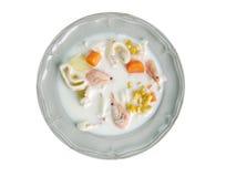 Sopa de pescado de pescados irlandesa Imagenes de archivo