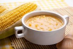 Sopa de pescado de maíz imágenes de archivo libres de regalías
