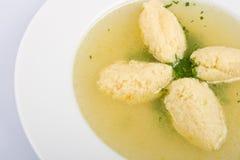 Sopa de pollo fotografía de archivo libre de regalías