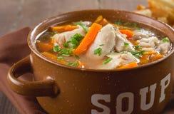 Sopa de pollo Fotos de archivo libres de regalías