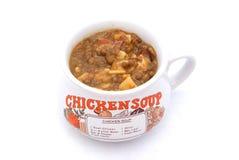 Sopa de pollo Fotos de archivo