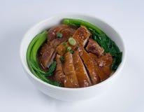 Sopa de pollo cocida al horno Fotografía de archivo libre de regalías