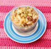 Sopa de pollo con los tallarines de arroz Fotografía de archivo