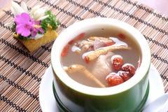 Sopa de pollo del Ginseng Foto de archivo