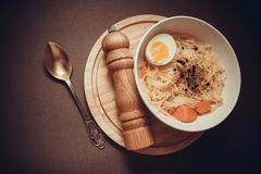 Sopa de pollo dietética Fotos de archivo libres de regalías