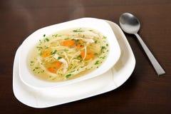 Sopa de pollo polaca Fotos de archivo libres de regalías