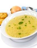 Sopa de pollo sabrosa con los tallarines Imagen de archivo libre de regalías