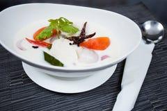 Sopa de pollo tailandesa en leche de coco Fotos de archivo