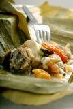 Sopa de pollo tradicional Fotografía de archivo libre de regalías