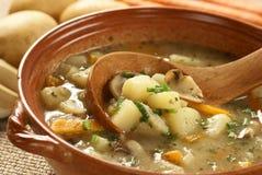Sopa de Potatoe Fotos de Stock