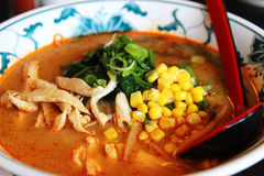 Sopa de Ramen Fotografia de Stock