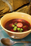 Sopa de remolachas Foto de archivo