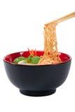 Sopa de tallarines asiática Fotografía de archivo