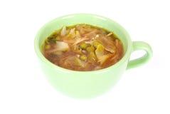 Sopa de tallarines de la col de China Foto de archivo libre de regalías