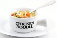 Sopa de tallarines del pollo Fotografía de archivo
