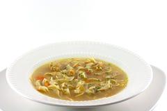 Sopa de tallarines hecha en casa del pollo Imagenes de archivo
