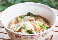 Sopa de tallarines picante tailandesa Fotos de archivo libres de regalías