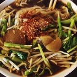 Sopa de tallarines tailandesa Imagen de archivo