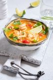 Sopa de Tom Yum fotos de stock