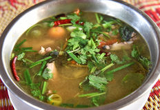 Sopa de Tom Yum imagem de stock royalty free