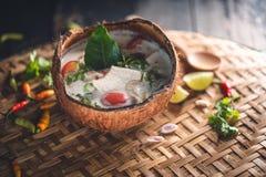 Sopa de Tom Yum, alimento de Tailândia fotografia de stock royalty free