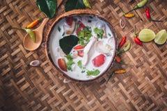 Sopa de Tom Yum, alimento de Tailandia imagen de archivo libre de regalías