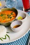 Sopa de Tom Yum do asiático foto de stock