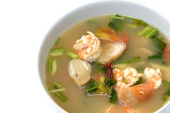 Sopa de Tom Yum Goong com camarão, alimento tailandês imagem de stock
