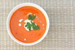 Sopa de Tomatoe Imágenes de archivo libres de regalías