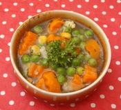 Sopa de vegetabes Fotos de archivo