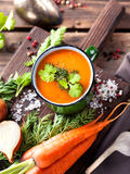 Sopa de vegetais Fotografia de Stock Royalty Free