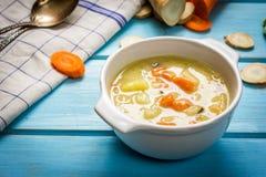 Sopa de vegetais de Hmemade Imagem de Stock Royalty Free