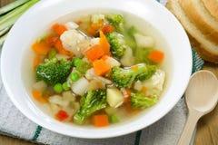Sopa de verduras Fotografía de archivo libre de regalías