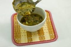 Sopa de verduras imagenes de archivo