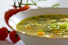 Sopa de verduras Fotografía de archivo