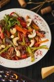 Sopa de verduras cocinada foto de archivo