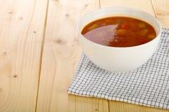 Sopa de verduras hecha en casa Imagen de archivo libre de regalías