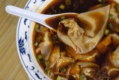 Sopa de Wonton 2 Foto de Stock