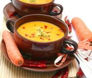 Sopa de zanahorias imagen de archivo libre de regalías