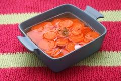 Sopa de zanahorias imágenes de archivo libres de regalías
