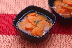Sopa de zanahorias fotos de archivo libres de regalías