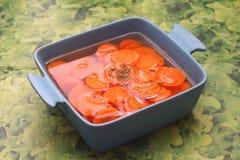 Sopa de zanahorias foto de archivo libre de regalías