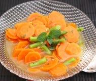 Sopa de zanahorias foto de archivo