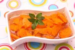 Sopa de zanahorias fotografía de archivo