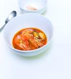Sopa del alimento de mar imagen de archivo
