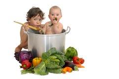 Sopa del bebé Imagen de archivo libre de regalías