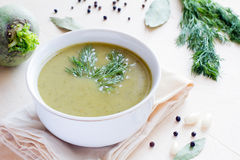 Sopa del bróculi Foto de archivo