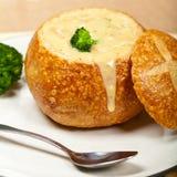 Sopa del bróculi y del queso imagen de archivo libre de regalías
