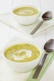 Sopa del calabacín con crema Imagen de archivo