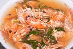 Sopa del camarón Foto de archivo